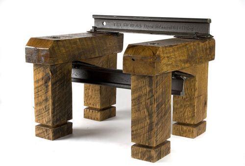 мебель из железнодорожных рельсов