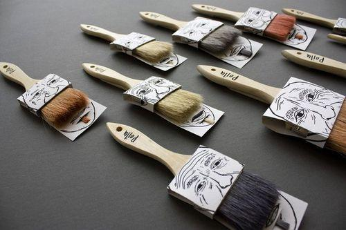 Упаковки для кисточек Poilus от Simon Laliberte