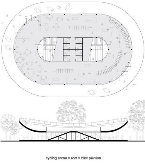 План велопавильона Bicycle Club