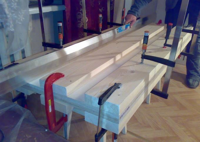 Изготовление столешницы верстака