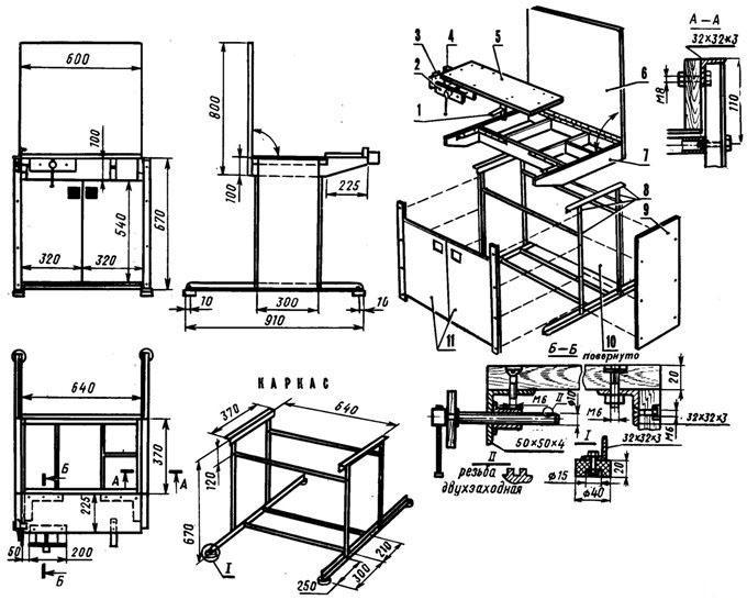 Схемы для изготовления верстака своими руками