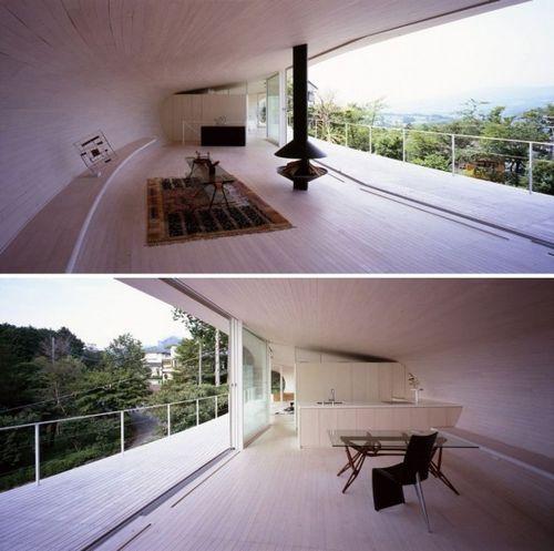 Crescent House - дом-полумесяц в Японии
