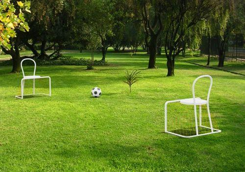 Футбол на природе со стульями Lazy Football Chair