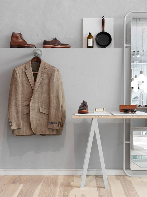 Интерьер магазина мужской одежды
