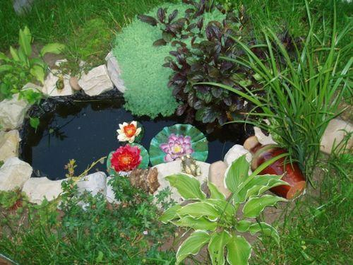 Делаем маленький прудик в саду