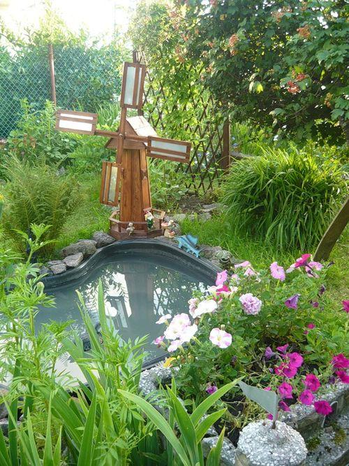 Как сделать мельницу для декора сада?