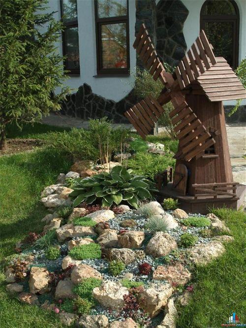 Cделать мельницу для декора сада