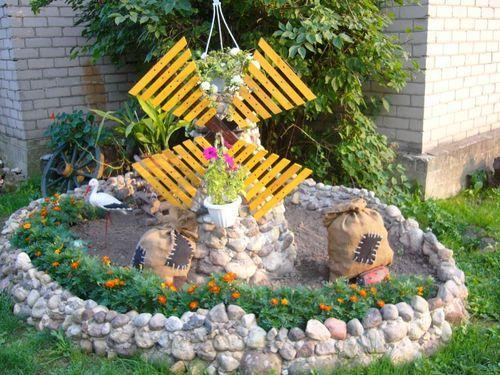 Мельница своими руками для декора сада