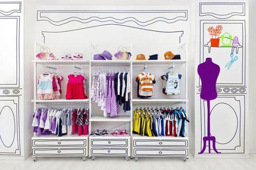 Piccino – нарисованный бутик детской одежды в Испании