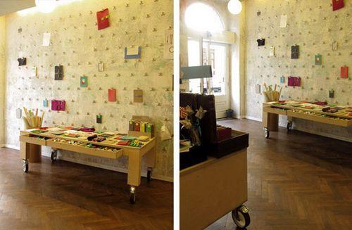 Дизайн интерьера магазина Papelote в Праге