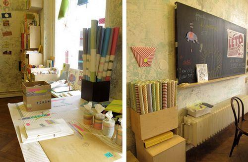 Интерьер магазина Papelote в Праге