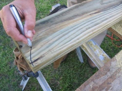 Изготовление каркаса качелей
