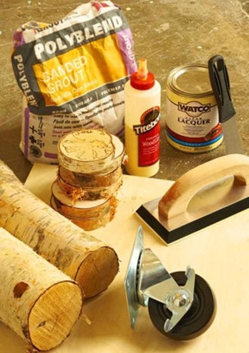 Материалы и инструменты для изготовления деревянного столика