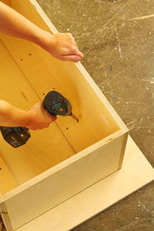 Каркас деревянного столика