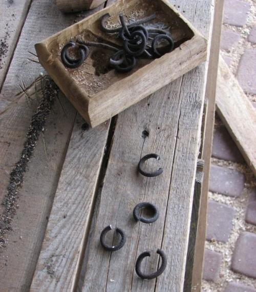 Кольца для крепления цепи к кованным элементам