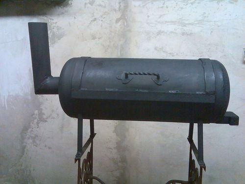 Мангал из газового баллона с крышкой для пикника