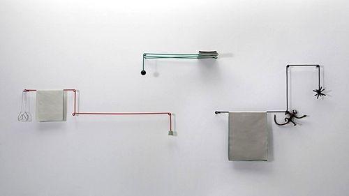 Оригинальные вешалки для полотенец от Hioomi Tahara