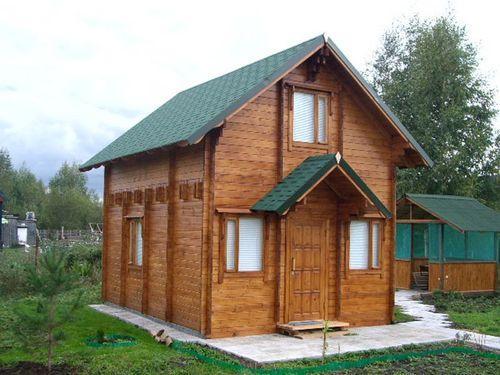 Двухэтажный садовый домик