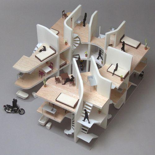 Motorcycle-Friendly Apartment от японских архитекторов
