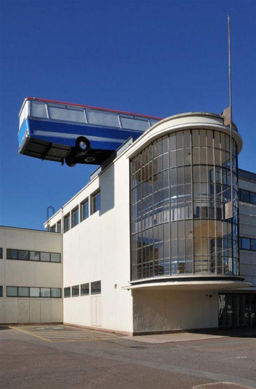 Автобус на крыше