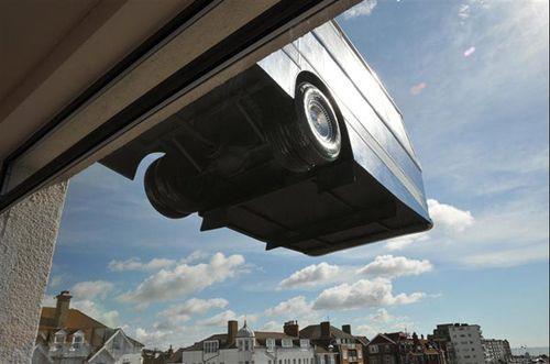 Арт-инсталляция «Автобус на крыше»