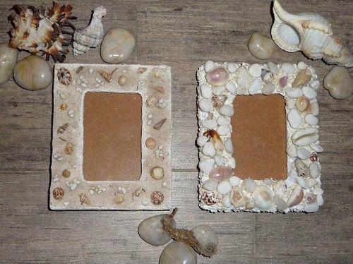Рамка декорирована ракушками