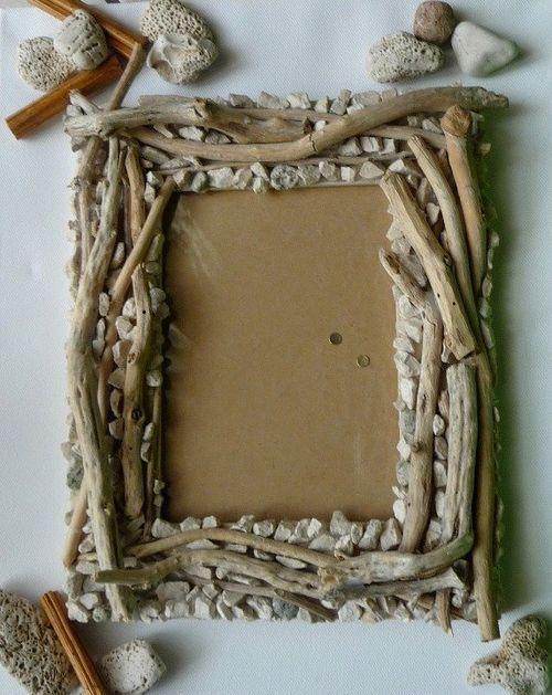 Декорирование рамки для фото камнями