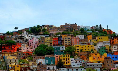 Город Гуанахуато с разноцветными домами