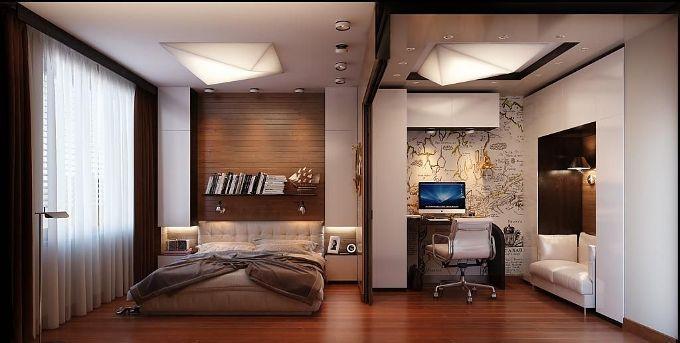 Интерьер спальни для путешественника