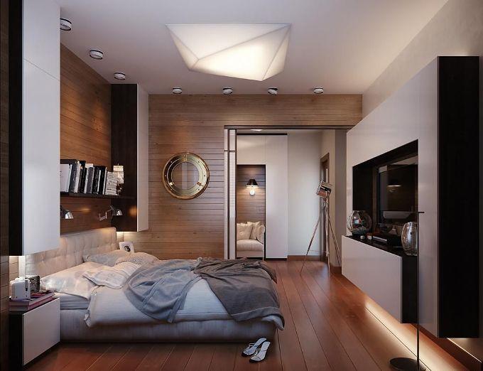 Мягкий и таинственный интерьер спальни