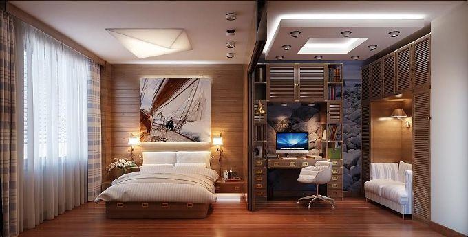 Интерьер спальни путешественника