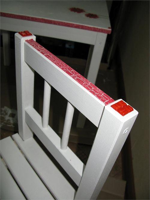 Декор деревянного стула
