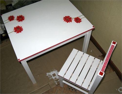 Как превратить обычный стол и стул в оригинальные предметы интерьера