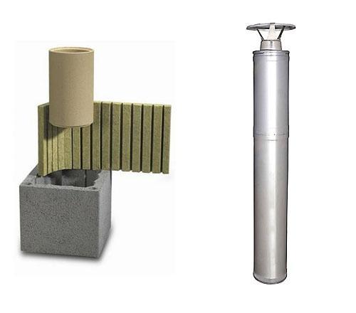 Керамический или стальной дымоход?