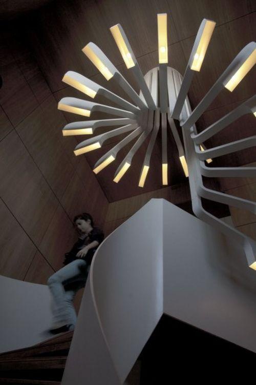 Spiral Staircase Lighting