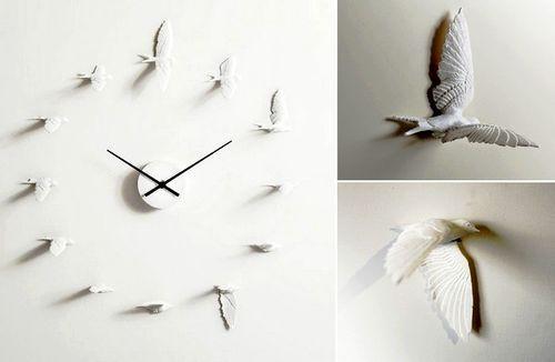 Дизайнерские настенные часы Swallow X clock