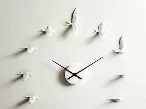 Креативные настенные часы Swallow X clock