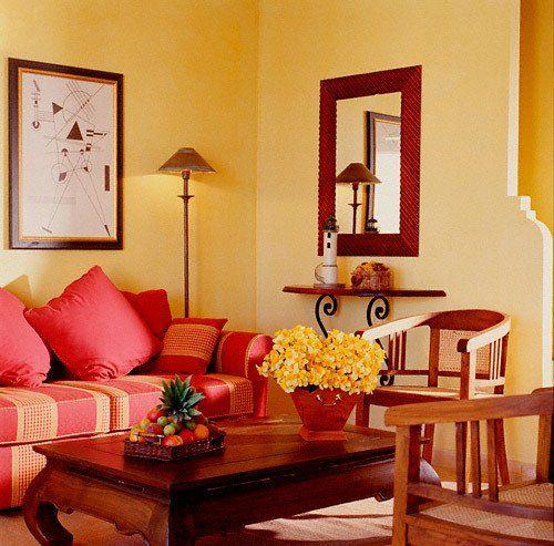 Коралловый цвет мебели