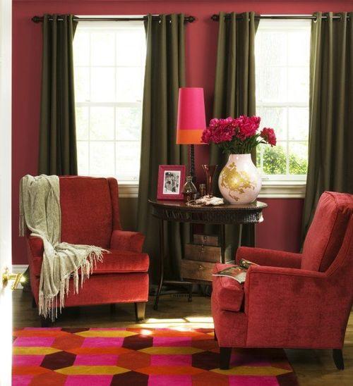 Кресла кораллового цвета