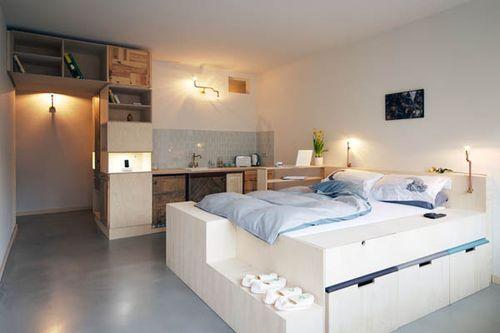 Маленький и многофункциональный гостиничный номер Plus One Hotel Room