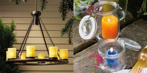 Романтические светильники для сада