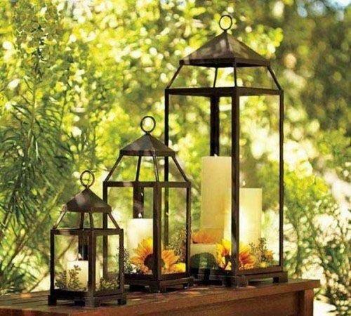 Светильники и сад