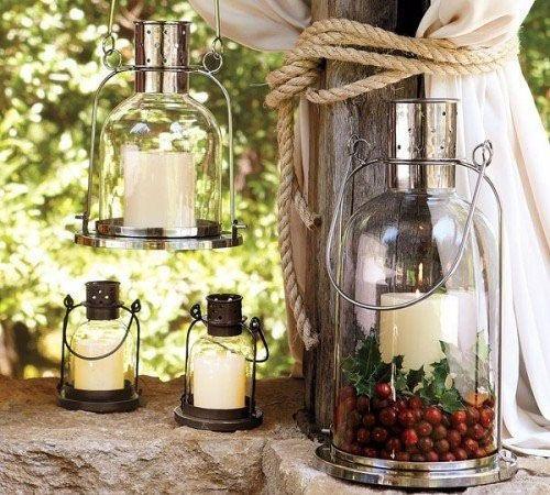 Старинные светильники для сада