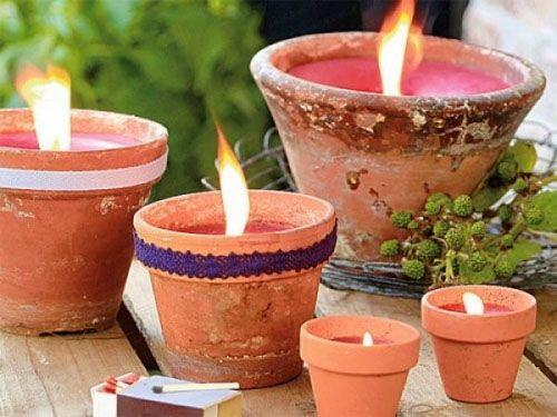 Сад со свечами
