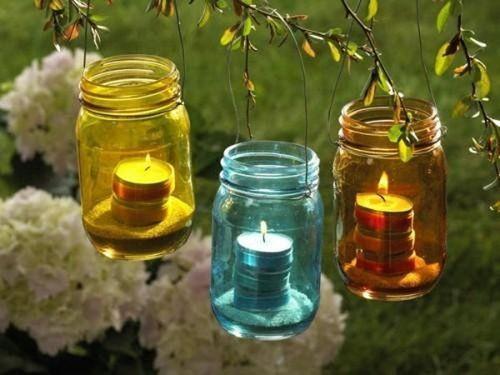 Романтический сад. Сад со свечами