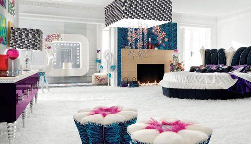 Светлая роскошная спальня