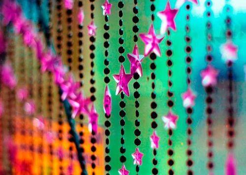 Звездные шторы из бусин