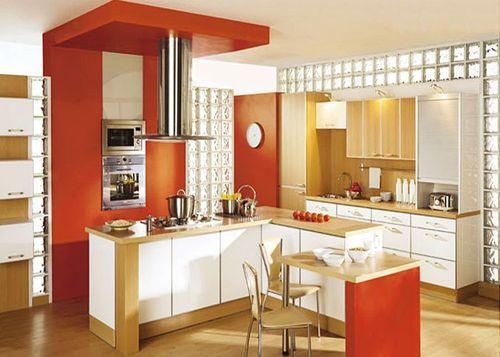Стеклоблоки в интерьере кухни