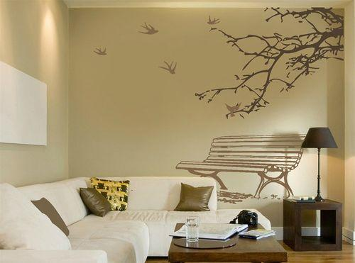 Художественная роспись стен в гостиной