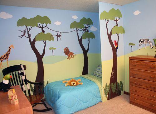 Художественная роспись стен в детской спальне